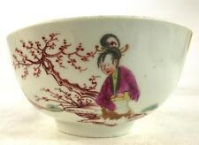 18TH Century Worcester Recipiente De Porcelana Policromada Figuras Chinas