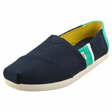 Toms Classic Mens Navy Green Textile & Suede Espadrille Shoes