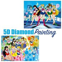 Cartoon Anime Sailor Moon Group Design Full Drill 5D Diamond Painting DIY Kit