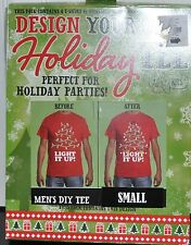 Crazy Christmas TEE T-Shirt, Design Your Own Decorate Yourself KIT Small TREE
