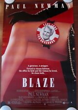 BLAZE ~ Original (1989) 27x40 Movie Poster PAUL NEWMAN ~ ROLLED MINT CONDITION!