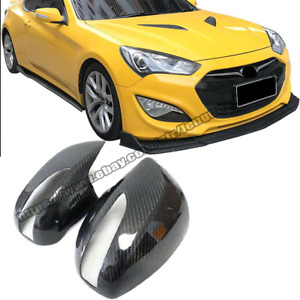For 08-12 Hyundai Genesis Rohens Coupe Carbon Fiber Rearview Side Mirror Cover y