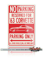"Details about  /1999 99 Corvette Chevrolet Novelty Reserved Parking Street Sign 9/""X12/"" Aluminum"