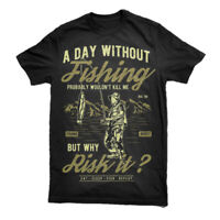 Fishing T Shirt Camouflage Camo Army Hunting Game Military Carp Top Mens S-3XL