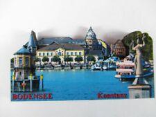 Bodensee Konstanz 8 cm Holz Souvenir Magnet,Germany Deutschland,Neu .