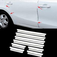 8pcs Auto Car Door Edge Guard Strip Scratch Protector Anti-collision Trim White