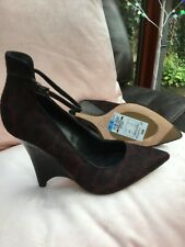 Marks and Spencer's ladies high wedge animal print leather size 5