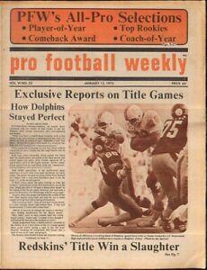 Pro Football Weekly Jan 13 1973 Csonka Dolphins Joe Greene Steelers Vol 6 No 23