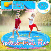100CM PVC Sprinkle Splash Play Mat Toy Pool Inflatable Outdoor Sprinkler Pad