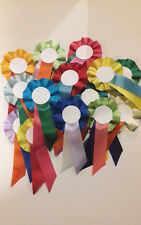 Rosettes pack of 20 blank Rosettes Mixed colours Lowest priced on ebay!!!!