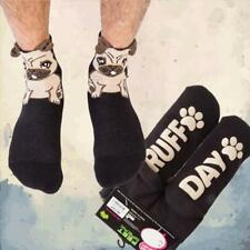 "Silly Soles ""Ruff Day"" Pug Socks 