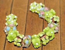 15 pc set Handcrafted Fine Lampwork Glass Beads- Flowers, Dots 12mm-  A2128c