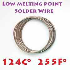 Solder wire low melting point 124C 1m/1mm Bi55.5 Pb44.5 alloy good desoldering