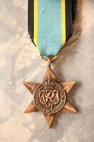 WW2 GRI VI AIR CREW EUROPE STAR BRITISH ALLIES COMMONWEALTH AIRCREW MEDAL RAF