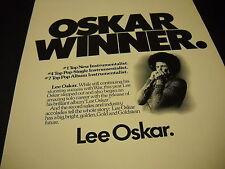 Lee Oskar is an Oskar Winner clever 1976 Promo Poster Ad mint condition
