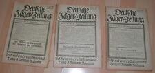 dachbodenfund 3x deutsche jäger vereins zeitung nr18/19/20 neumann heft 1921 alt