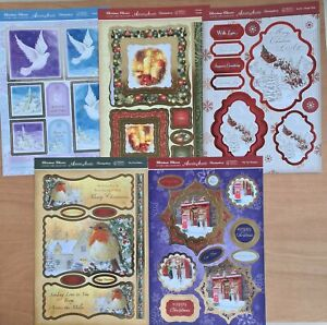 15 Christmas Card Making Papers Sheets Die Cut Art Craft Decoration