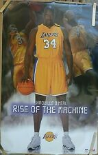 RARE SHAQ SHAQUILLE O'NEAL LAKERS RISE 2003 VINTAGE ORIG STARLINE NBA POSTER