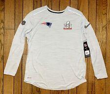 Nike New England Patriots Super Bowl LI 51 Media Day Long Sleeve Shirt Gray XL