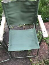 More details for vintage military landrover chair canvas folding army issue land rover chair