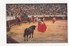 Corrida de Toros Suerte de Capa Spain Vintage Postcard 478a