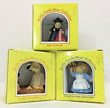 "Muffy VanderBear Teddy Collection 3 Figure Resin 3"" Figurine Set Nabco Nib 1990s"