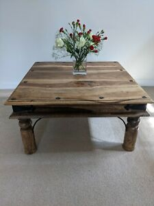Rustic Hardwood Coffee Side table