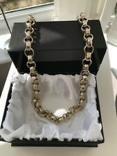 Men's 24ct Gold filled Belcher Chain Necklace Diamond Cut 30 Inch mens XL 13mm