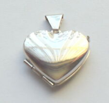 Heart-Shaped Locket Pendant White Gold 9ct Solid Valentine's Gift For Her