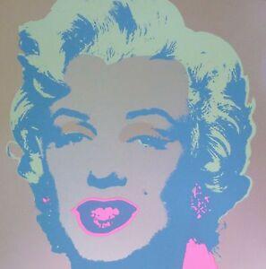 "ANDY WARHOL MARILYN MONROE SUNDAY B.MORNING Silk-screen 11.26 with COA 36""x36"""