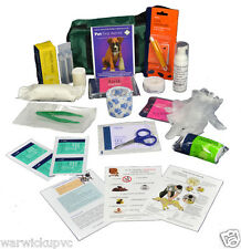PET FIRST AID KIT DOG CARAVAN WALK Large 20 items CPR&TOXIC GUIDE COMPREHENSIVE
