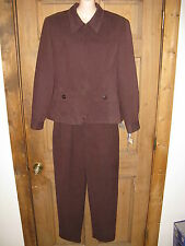 Norton Mcnaughton Chocolate Brown 3 Pc Skirt Pant Jacket Suit 8-10 NWT MSRP $180