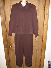 Norton Mcnaughton Chocolate Brown 3 Pc Skirt Pant Jacket Suit 8-10 NWT MSRP $180