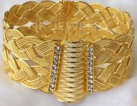 Trabzon Armschnalle Altin Bileklik Gold 24 Karat Altin Kaplama Burma Armreif NEU