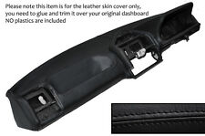Negro Stitch Dash Dashboard Leather Piel tapa se ajusta Peugeot 205 Mk2 1988-1994
