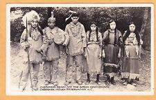 Native Americana Real Photo Postcard - Cherokee Ready for Green Corn Dance Nc