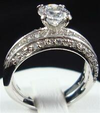 Bridal Engagement Wedding ring set size6 Stunning 2pcs 1.5ctw Cz Cubic Zirconia