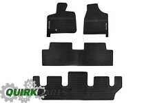 2009-2014 VW Volkswagen Routan Monster Mats All 3 Rows OE Black All Weather Mats