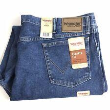 Men's Wrangler 46 x 30 Rugged Wear Stretch Flex Denim Blue Jeans Size 46x30
