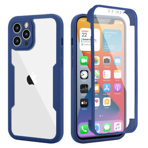 For iPhone 13 12 mini 11 Pro X XR XS Max Full-Body Case Cover + Screen Protector