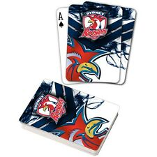 122062 SYDNEY ROOSTERS NRL TEAM LOGO MASCOT SUPPORTER DECK OF PLAYING CARDS