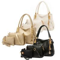 3pcs Women Leather Handbag+Shoulder Bag Crossbody Messenger Bag+Clutch Bag P4PM