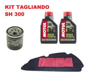 KIT TAGLIANDO HONDA SH 300 MOTUL 5000 10W40 2007 2008 2009 2010 2011 2012 2013