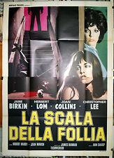 manifesto 4F film LA SCALA DELLA FOLLIA Christopher Lee Jane Birkin H.Lom 1974