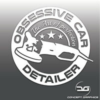 Obsessive Car Detailer Funny Valeting JDM, DUB Window Bumper Vinyl Decal Sticker