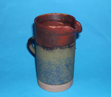 Robin Welch Studio Pottery - Attractive Cylinder Jug - Great Colouring (M/Mark).