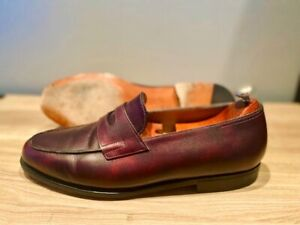 John Lobb Iconic  handmade Lopez Loafers Caviar museum Leather