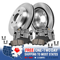 Rear OE Brake Calipers And Rotors + Pads For QX56 Nissan Armada Titan