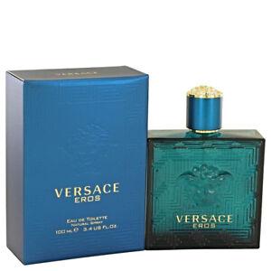 Versace Eros Cologne 3.4 Oz Eau De Toilette Spray By Versace New For Men Perfume
