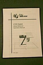 Fmc John Bean 4100 Digital Wheel Balancer Operating Manual